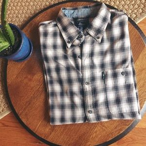 MENS Plaid Bass Button Down